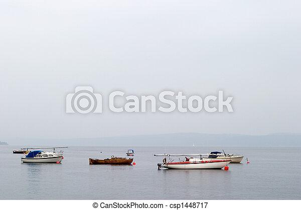 Sailboats on Ocean - csp1448717