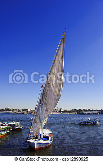 Sailing boat on the river Nile - csp12890925
