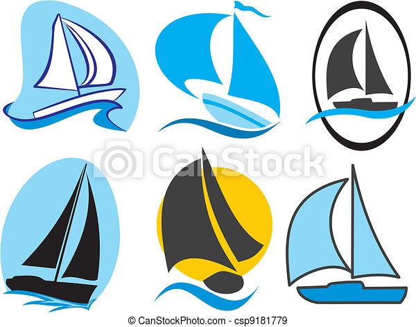 sailing icons - csp9181779