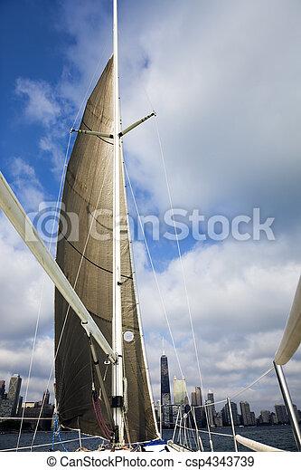 Sailing in Chicago - csp4343739