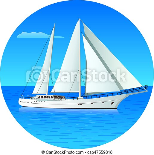 sailing luxury yacht - csp47559818