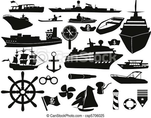 sailing objects icon set - csp5706025
