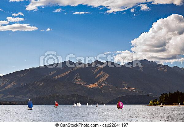 Sailing on Lake Wanaka - csp22641197