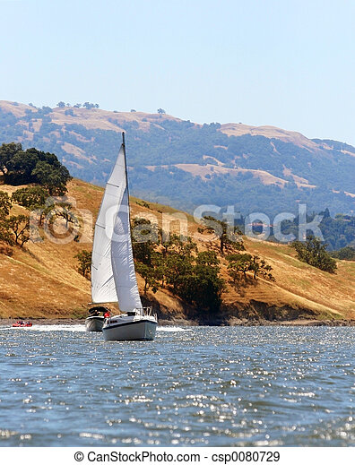 Sailing on the lake - csp0080729