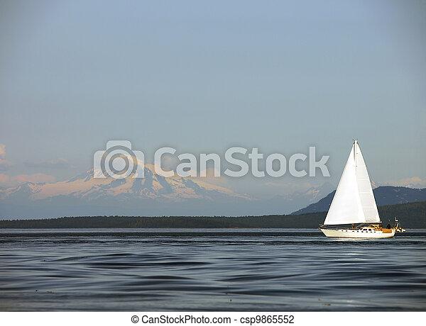 Sailing Past Mount Baker - csp9865552