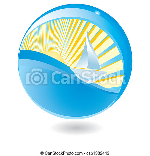 Sailing ship in sphere - csp1382443