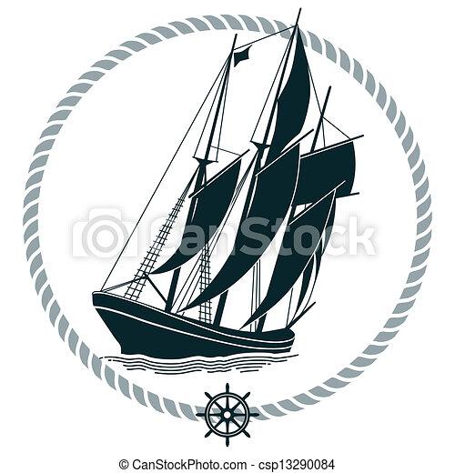 Sailing Ship Sign - csp13290084