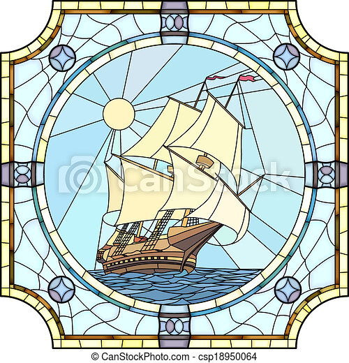 Sailing ships of the 17th century. - csp18950064