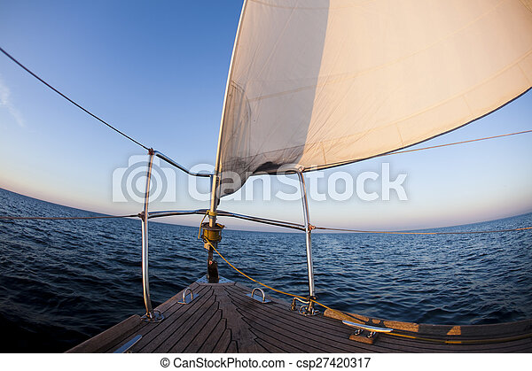 Sailing, summertime saturated colorful theme - csp27420317