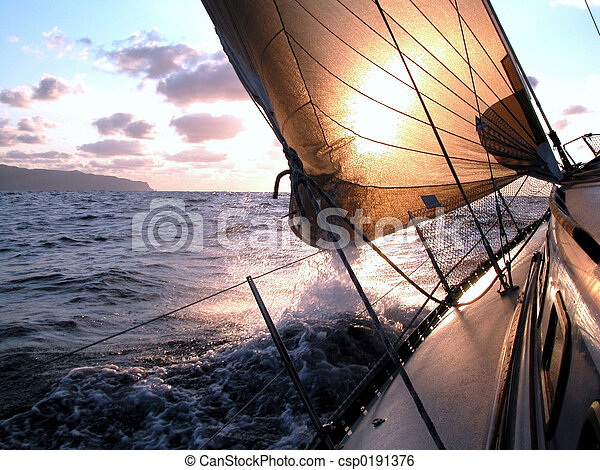 sailing to the sunrise - csp0191376
