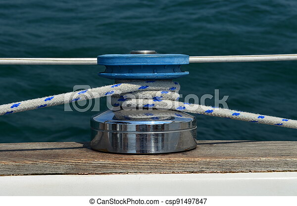 Sailing winch - csp91497847