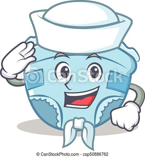 sailor baby diaper character cartoon vector illustration clip art rh canstockphoto ie diaper shower clip art free free diaper clipart images