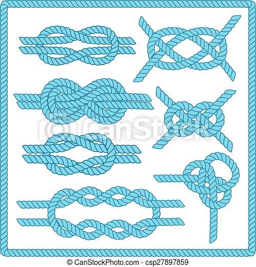 Sailor knot set.  - csp27897859