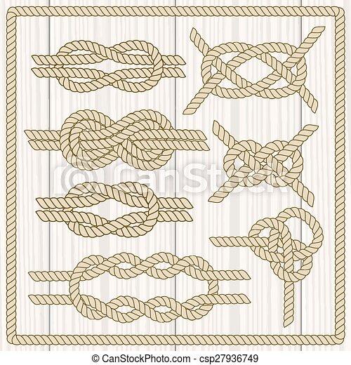 Sailor knot set.  - csp27936749