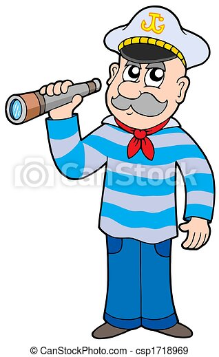 sailor with spyglass isolated illustration stock illustration rh canstockphoto com sailor clip art free sailor clipart png