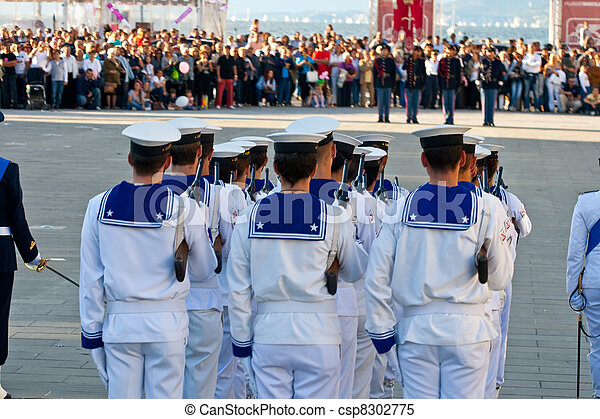 Sailors in uniform - csp8302775