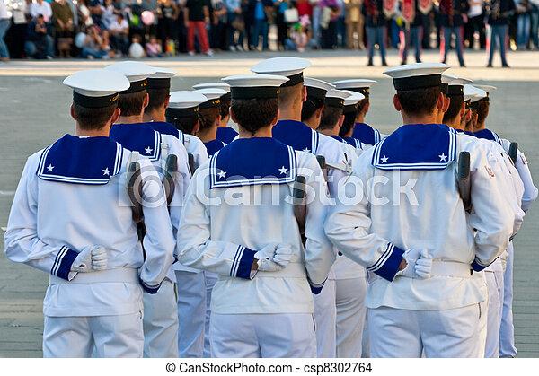 Sailors in uniform - csp8302764
