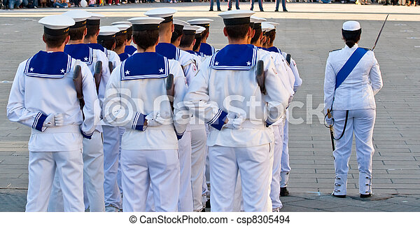 Sailors in uniform - csp8305494