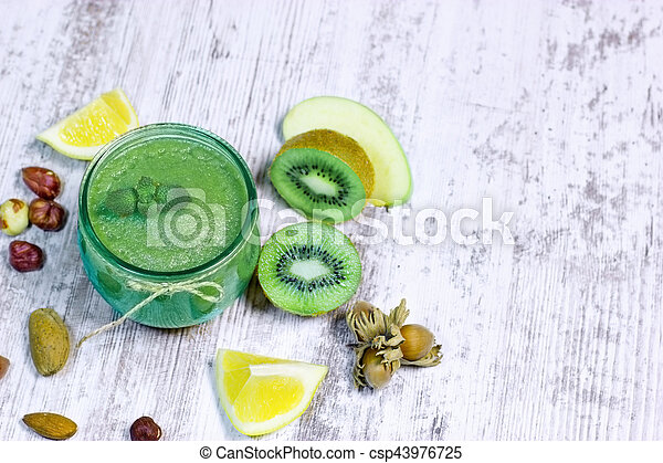 sain, -, boisson, vert, smoothie - csp43976725