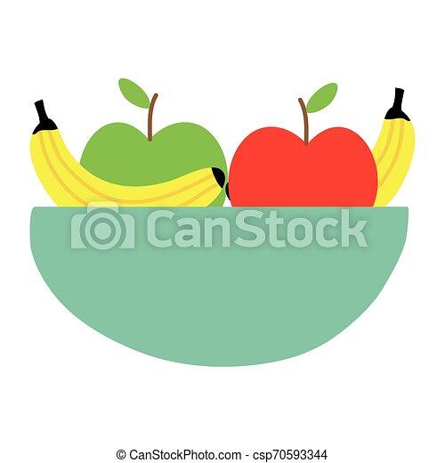 sain, bol, salade, fruits - csp70593344