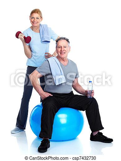 sain, fitness, gymnase, style de vie - csp7432730