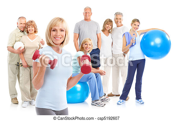 sain, fitness, gymnase, style de vie - csp5192607