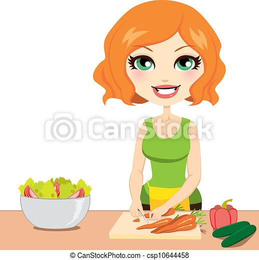 sain, légume, salade - csp10644458