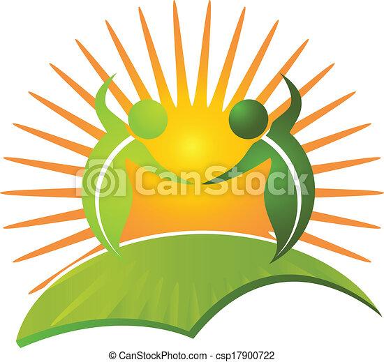 sain, logo, vie, vecteur, nature - csp17900722