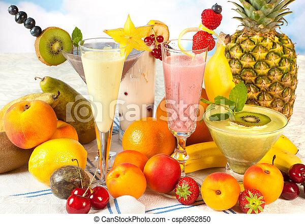 sain, smoothies, régime - csp6952850
