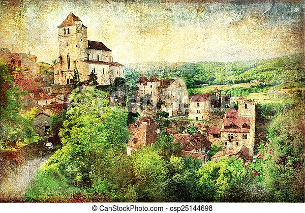 Saint-Cirq-Lapopie - csp25144698