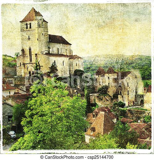 Saint-Cirq-Lapopie - csp25144700