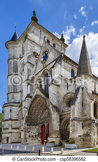Saint Etienne Church, Beauvais, France - csp58396562