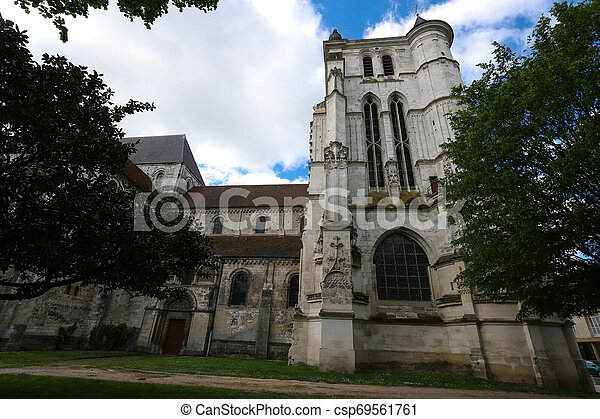 Saint Etienne Church represents a harmonious transition from the Romanesque to the Flamboyant Gothic style, Beauvais, France - csp69561761