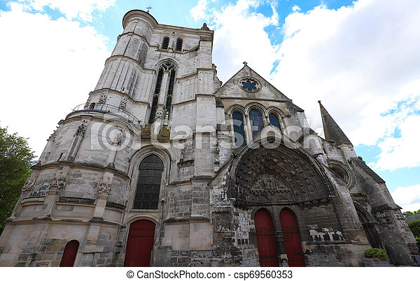 Saint Etienne Church represents a harmonious transition from the Romanesque to the Flamboyant Gothic style, Beauvais, France - csp69560353