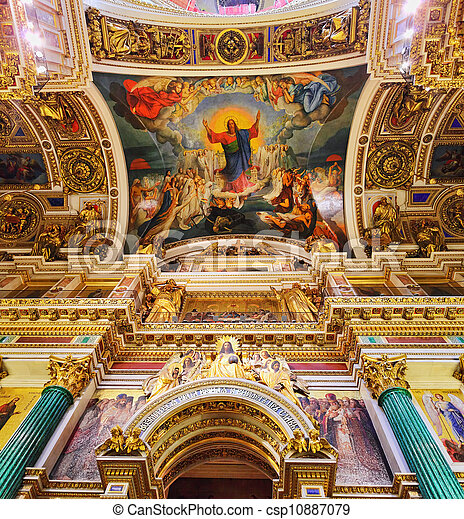 Saint Isaac's Cathedral in St Petersburg, Russia - csp10887079