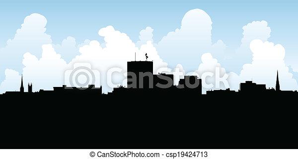 Saint John Skyline - csp19424713