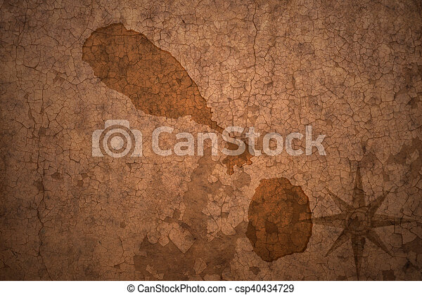 saint kitts and nevis map on a old vintage crack paper background - csp40434729