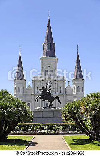 Saint Louis Cathedral in New Orleans, Louisiana. - csp2064968