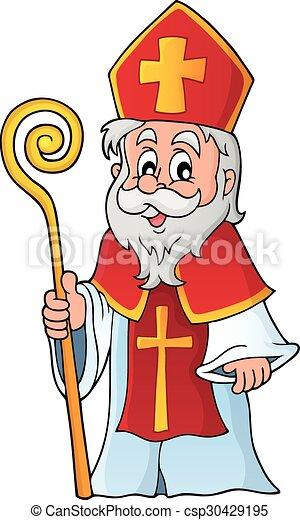 Saint Nicolas theme image  - csp30429195
