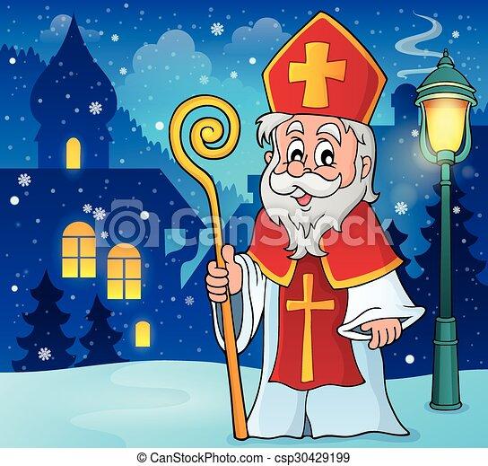 Saint Nicolas theme image - csp30429199