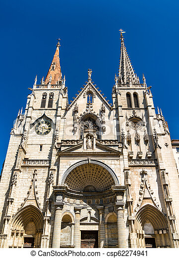 Saint Nizier Church in Lyon, France - csp62274941