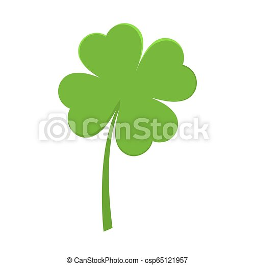 Saint Patrick Day Green Leaf Clover Shamrock Vector Illustration