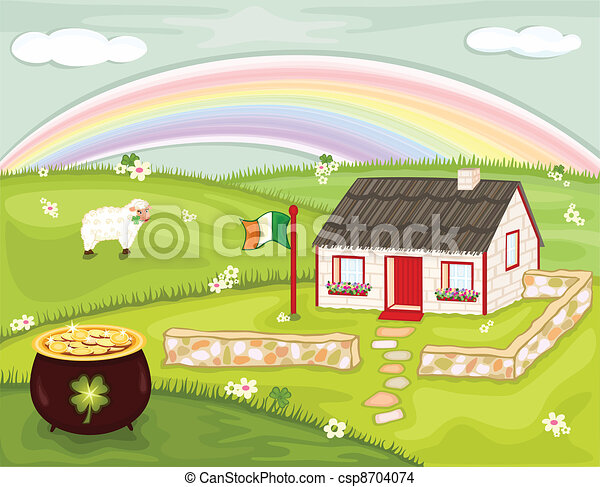 Saint Patrick Day in Ireland - csp8704074