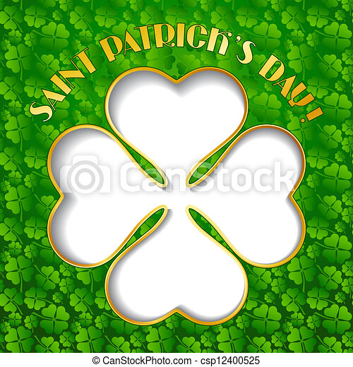 Saint Patrick's Day background. - csp12400525