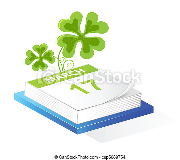 Saint Patrick's Day calendar - csp5689754
