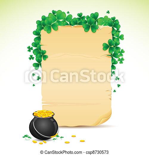Saint Patrick's Day Card - csp8730573