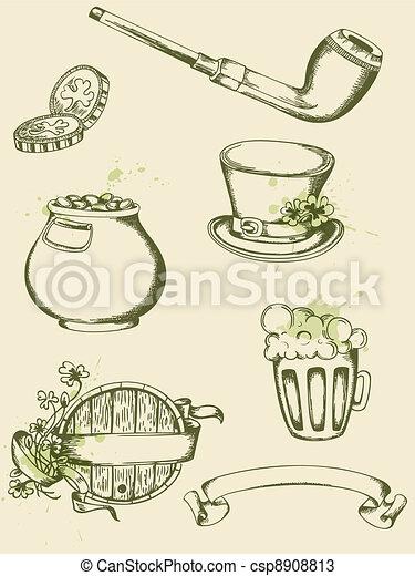 Saint Patrick's Day symbols - csp8908813