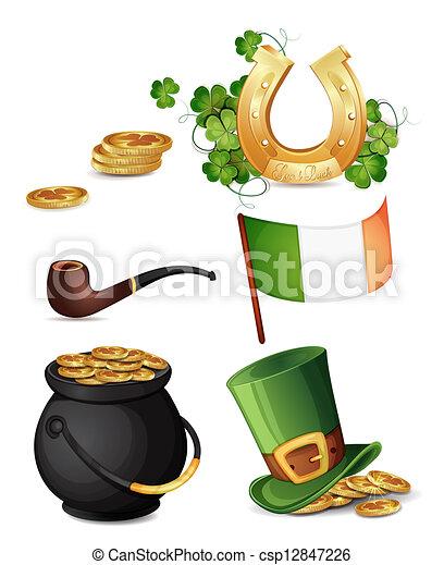 Saint Patrick's Day symbols - csp12847226
