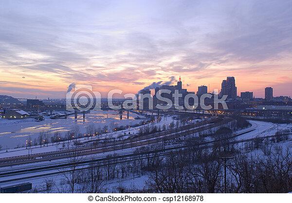 Saint Paul and River at Dusk - csp12168978