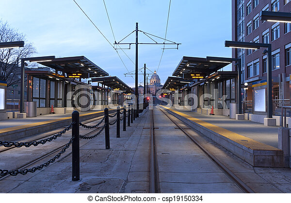 Saint Paul Light Rail Station and Capitol - csp19150334